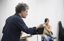 Répétition de l'Orchestre des Jeunes de la Méditerranée sous la direction musicale de Fabrizio Cassol le vendredi 17 juillet 2015 au conservatoire D'Arius Milhaud, Festival d'Aix-en-Provence.